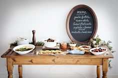 An antipasti table for a party. #
