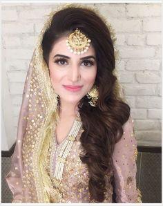 Pakistani bridal look Pakistani Bridal Makeup, Pakistani Wedding Outfits, Bridal Hair And Makeup, Pakistani Dresses, Nikkah Dress, Bridal Mehndi, Mehendi, Wedding Makeup, Hair Makeup