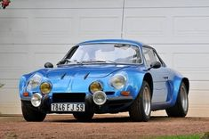 This original low-mileage Renault Alpine Group IV is as quick as it is gorgeous, and you'll be able to pick it up at Artcurial's upcoming Le Mans Classic sale. The car's original owner purchased it directly from the . Vintage Racing, Vintage Cars, Alpine Car, Classic European Cars, Megane Rs, Wonder Art, Pretty Cars, Classy Cars, Small Cars