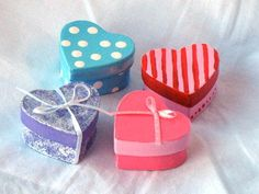 Heart Boxes - Show your love this Valentine's Day with this heart box. Put a few piece of chocolate treasure inside for a surprise!