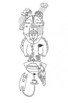 dessin automatique de sophie raynal