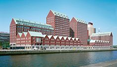 Kop van Zuid Hans Kollhoff, Modern Buildings, Palazzo, Terrace, Minimalism, Contemporary, House, Berlin, York