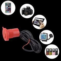 USB Motorcycle Mobile Phone Power Supply Charger Waterproof Port Socket 12V hot sell #Affiliate