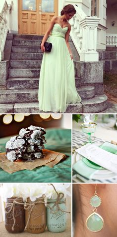 mint chocolate wedding color inspiration board on the blog today!  blog.tgkdesigns.com