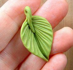 Bright Green Leaf Little Pendant by ZudaGay, via Flickr