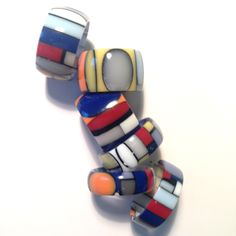 colored Corian rings lab@francoeccel.com #francoeccel Jewelry Art, Jewelry Rings, Corian, Bracelet Watch, Lab, Enamel, Crafty, Contemporary, Bracelets