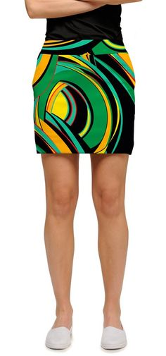 e33dab22c Green, orange, yellow, black women's skirt. Goes great with a black top.  Perfect for summer. $25.00. Loudmouth's