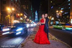 A newlywed couple take some portraits after their fusion wedding ceremonies. http://maharaniweddings.com/gallery/photo/18401