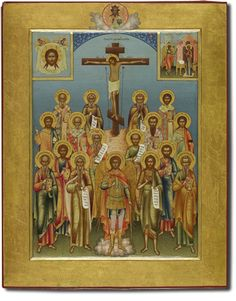 660 Избранные святые; Распятие Христа; Спас Нерукотворный; Благовещение