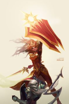 Diana VS Leona - League of Legends Fan Art. League of Pictures is a website where you can find League of Legends fan art, cosplay and more! Lol League Of Legends, Orianna League Of Legends, Character Concept, Character Art, Concept Art, Character Design, Fanart, Fantasy Characters, Female Characters