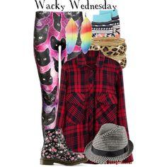 """Spirit Month: Wacky Wednesday"" by sassyfrasscat on Polyvore"
