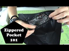 This was a really good tutorial! Zippered Pockets 101: How to sew and make a zippered pocket - YouTube