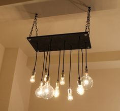 Urban Chandelier by urbanchandy on Etsy. This would look awesome in my dream kitchen!!