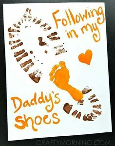 Looking for something cute and budget friendly to make for dad for Father's Day? Check out these Father's Day Handprint and Footprint Craft Ideas. first fathers day ideas, fathers day crafts kindergarten, fathers day ideas from daughter Daycare Crafts, Toddler Crafts, Preschool Crafts, Daddy Day, Daddy Gifts, Dad To Be Gifts, Dad Gift From Baby, Daddy Valentine Gifts, Valentines