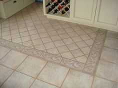 Floor Tile Patterns With Bottle Rack