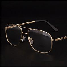 fe2f818492d Brand Designer Retro Gold Eyeglasses Frames Men Eye Glasses Frames For Mens  Optical Frame Prescription Eyewear