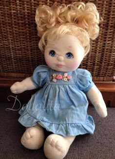 """Mattel 1985 My Child Doll 14"""" Blonde Hair Blue Eyes  #Mattel #Dolls"""