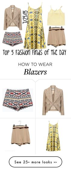 """""""Top 5 Fashion Finds of the Day"""" by maggie-johnston on Polyvore"""