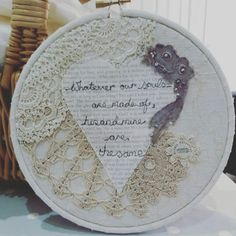 Know anyone who loved Wuthering Heights? My hoops are made to order and can br customised with your favourite quote! I also work to commission!