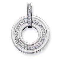 Sterling Silver CZ Fancy Pendant - JewelryWeb JewelryWeb. $82.20. Save 50% Off!