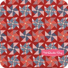 love this pinwheel fabric for the 4th of July!