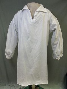 100% Cotton Colonial Shirt / Pirate ,Longhunter, Muzzleloader.18 th Century/XL