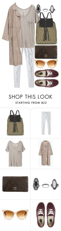 """Untitled #5733"" by ashley-r0se-xo ❤ liked on Polyvore featuring Kate Sheridan, Mlle Mademoiselle, Zara, Chanel, Topshop, Tom Ford and Vans"