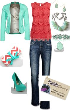 This is the perfect spring outfit because it is bright colors, has a springy, fun air about it, could be dressed up or down for any occasion. It screams FUN! It adapts to warm weather or cold with the blazer and it just perfect on so many levels! With Woolite the colors will never fade & you'll have a spring in your step with every wash! #wooliteer