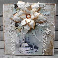 Scrappiness Create Christmas Cards, Christmas Scenes, Christmas Love, Christmas 2017, Xmas Cards, Christmas And New Year, Winter Christmas, Christmas Crafts, Shabby Chic Christmas