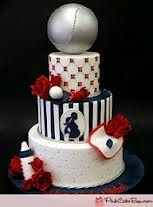 baseball theme baby shower cake    it's a boy baby shower ideas