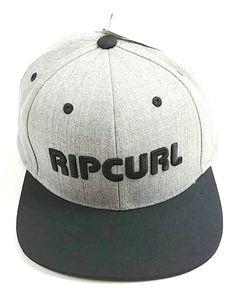 brand new a7806 4a807 Rip Curl Men s Pump Light Gray and Black Snapback Hat Cap Black Snapback  Hats,