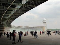 The former Berlin Tempelhof airport. Berlin-Tempelhof Flughafen.