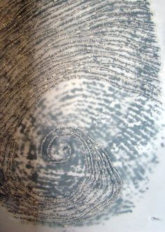 Thumbprint Portrait; Cheryl Sorg on her (truly) one-of-a-kind portraits. Etsy
