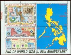 Stamp: End of World War II - 50th Anniversary (Philippines) (End of World War II - 50th Anniversary) Mi:PH BL92