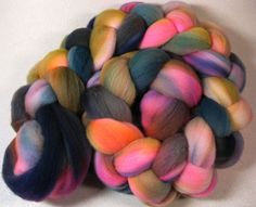 Nola 1 merino wool top for spinning and felting 4 by yarnwench