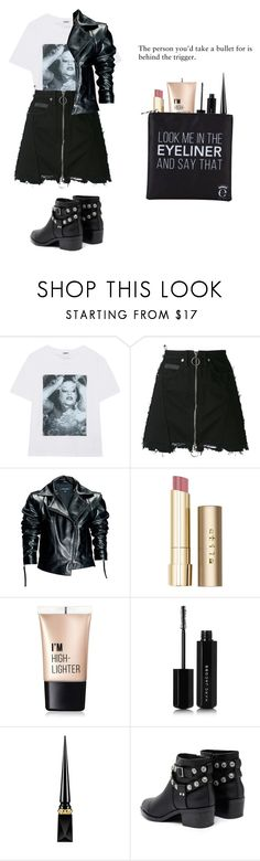 """The person you'd take a bullet for is behind the trigger"" by pastel-punk-princess-of-night ❤ liked on Polyvore featuring Kenzo, County Of Milan, Leka, Stila, Charlotte Russe, Marc Jacobs, Christian Louboutin, Senso and Eyeko"