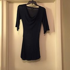 Navy blue tunic Navy blue tunic with scoop neck and bell sleeves Mossimo Supply Co Tops Tunics