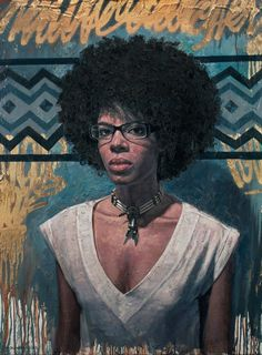 "'Native Daughter""-2012, from his Urban Portraits series by artist ~Tim Okamura ~ | Studio: Brooklyn, NY"