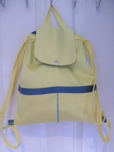 Beige Backpacks, Yellow Backpack, Japanese Knot Bag, Yellow Birthday, Royal Mail Uk, Daisy Pattern, Draped Fabric, Summer Bags, Little Bag
