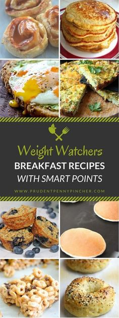 200 Weight Watchers Meals with Smart Points - Breakfast Recipes Weight Watchers Tipps, Weight Watchers Free, Weight Watchers Breakfast, Weight Watcher Dinners, Healthy Snacks, Healthy Eating, Healthy Recipes, Diet Snacks, Egg And Grapefruit Diet