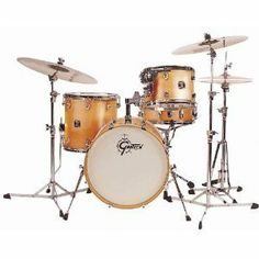 """Gretsch 4pc Catalina Club Jazz Shell Pack by Gretsch. $679.00. The Gretsch Catalina Jazz set is designed for the player who is looking for a versatile 4-piece set with quality features. Featuring Mahogany shells and 30-degree bearing edges, this set projects a warm, round, classic tone. The traditional Be Bop sizes with 18"""" bass drum makes it a fine gigging jazz kit but the Club Jazz can also play comfortably in other music styles, especially if you need to lay into a kit in..."""