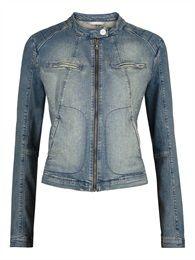Biker jacket in denim. Sandwich spring collection 2015.