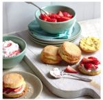 Scones with Jam and Cream, nothing says thank you like home made scones and a cup of sweet tea www.qibeautysocial.com