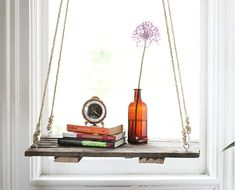The DIY Hanging Shelf: A Boho Lover's Favorite New Home Accessory... #HelloNatural #DIY #HangingShelf