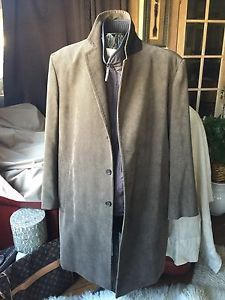 ALLEGRI Mens Brown coat Coat With Removable Vest 46R Regular Euro 56 Italian