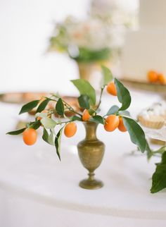 Photography : Rebecca Yale Photography | Venue : Private Estate | Event Design : Twofold LA Read More on SMP: http://www.stylemepretty.com/2015/08/27/fashion-to-table-citrus-inspired-wedding-details-with-late-afternoon/