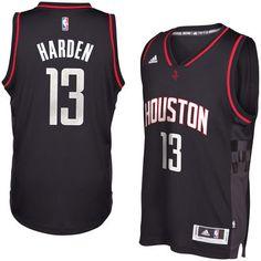 2a61a2a1ae2e Men s Houston Rockets James Harden adidas Black Alternate Swingman Jersey