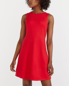 Get in touch with your feminine side in this stylish Sleeveless Dress. Featuring a fitted top and a flared skirt, it will be the perfect complement to your shape. Party Dresses Online, Holiday Party Dresses, Dresses For Sale, Women's Dresses, Canadian Clothing, Womens Cocktail Dresses, Professional Outfits, Flare Skirt, Casual Tops