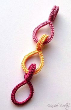 Yarnplayer's Tatting Blog: Tatted Cotter Pin Links Tutorial