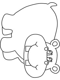 Print coloring page and book, Hippo2 Animals Coloring Pages for kids of all ages. Updated on Saturday, April 5th, 2014.